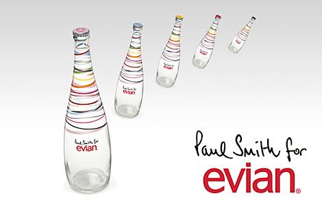 Evian s 39 habille en paul smith - Collection bouteille evian ...