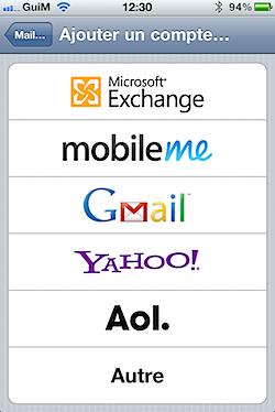 Windows Live Mail / Hotmail : Le push mail avec Exchange