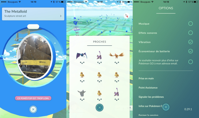 Pokemon-go-interface