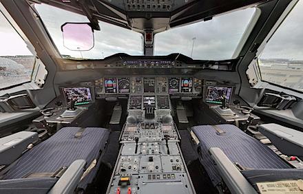 Comment c\'est fait à l\'intérieur du cokpit d\'un A380 ? - GuiM.fr