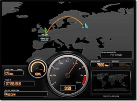 des tests de connection internet et de bande passante : Speedtest.net