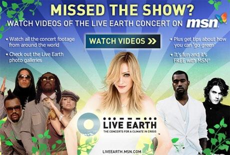 msn-live-earth